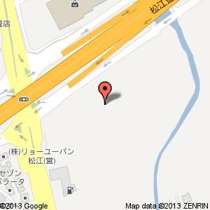 100満ボルト新松江店(仮称)の地図