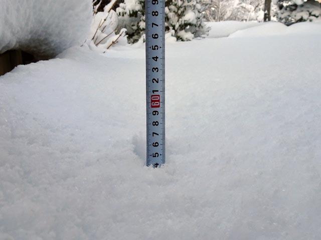宍道町積雪深2018年2月8日
