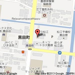 サンキューカット(3QCUT)松江黒田店?の地図