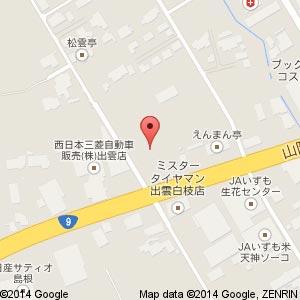 イオン出雲天神店の地図