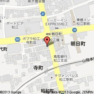 赤から 松江寺町店の地図
