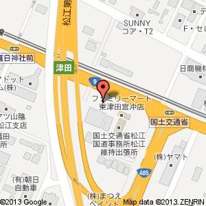 アルコン MINIショールームの地図