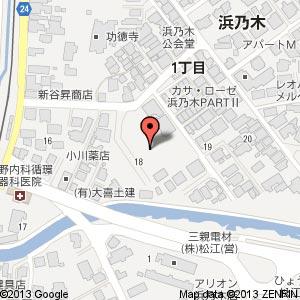 アルファスマート 浜乃木の地図