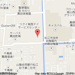 アルファステイツ黒田町Ⅱの地図