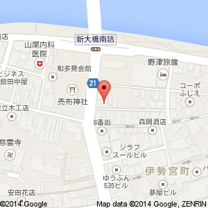 洋菓子&Cafe Ange(アンジェ) 松江店の地図