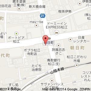 アリエル 松江店の地図