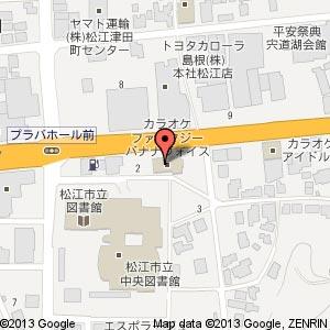 カラオケファンタジー・バナナボイスの地図