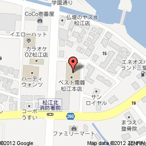 ベスト電器松江本店の地図