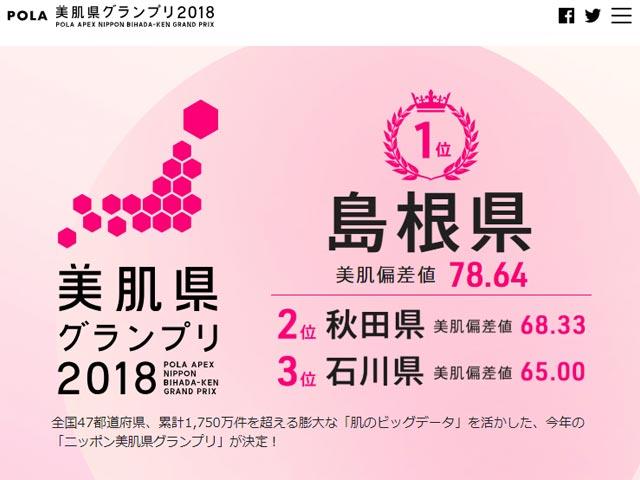 ニッポン美肌県グランプリ2018