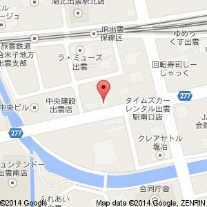 スポーツバー&グリル BOOMERS IZUMOの地図