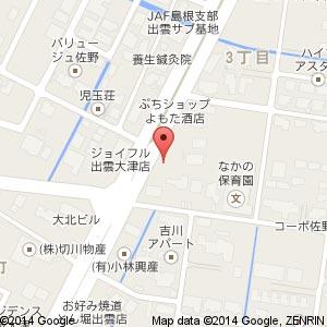 cafe186(イチハチロク)出雲店の地図