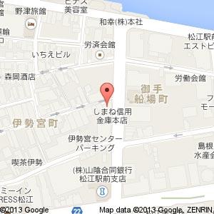 松江調理製菓製パンカレッジ 新校舎の地図