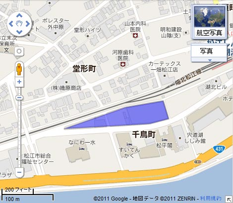 千鳥町ビル周辺市街地再開発事業の地図