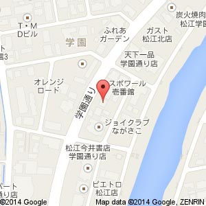 松江クロード学園通り店の地図