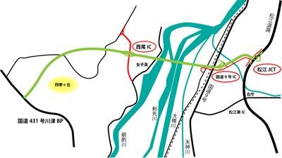 松江第五大橋道路 概略図