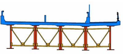 非合成鈑桁橋 標準断面