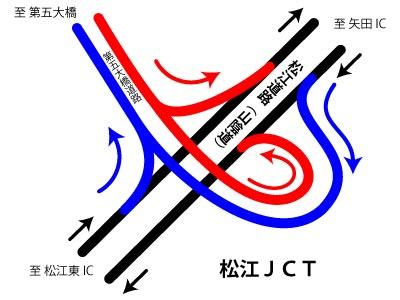 松江第五大橋道路 松江JCT 概略図