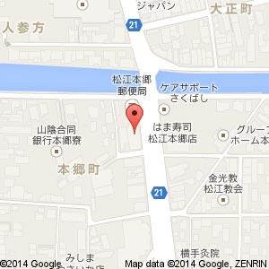 ダイワハウス工業(株)島根営業所の地図