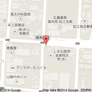 大手前通り 松江城デザイン郵便ポストその1の地図
