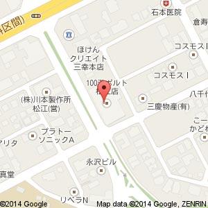 ディオ松江南店(100満ボルト跡地)の地図