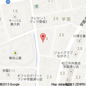 カラオケ DREAM COME 松江店の地図