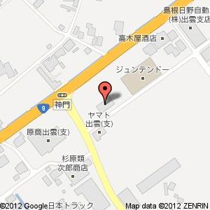 ファミリーマート いずも神門店の地図