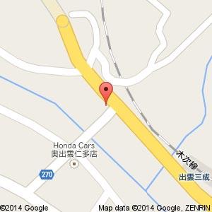 ファミリーマート 仁多三成店(仮称)の地図