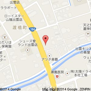 ファミリーマート いずも渡橋店の地図