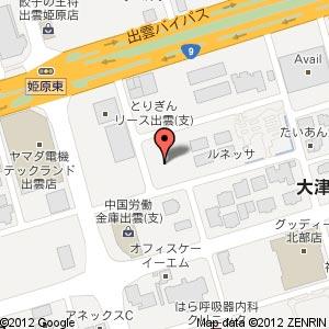 flossy × LA BAR 新店舗の地図