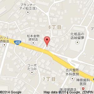 シフォンケーキ専門店 FUWA FUWA 松江店の地図