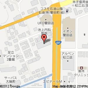 ゲオ松江菅田店の地図
