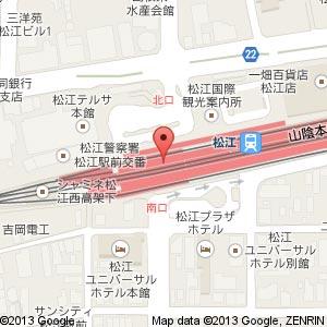 ゴディバ シャミネ松江店の地図