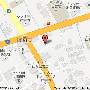 洋麺屋五右衛門 出雲店の地図