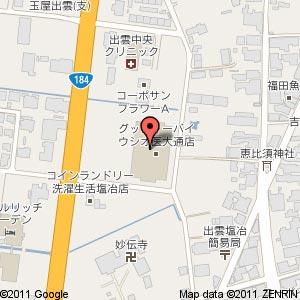 グッディー 医大通店の地図