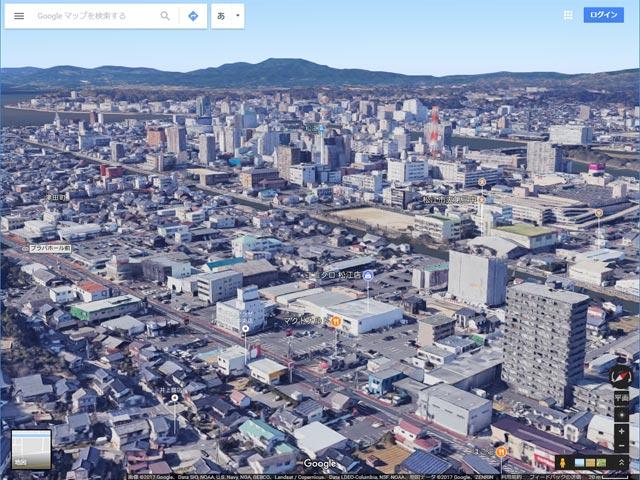 Googleマップ Earthビュー 松江市西津田