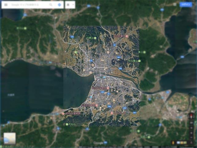 Googleマップ Earthビュー 松江市対応エリア2017年6月