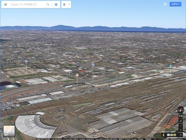 Googleマップ Earthビュー 未対応エリア(米子市)