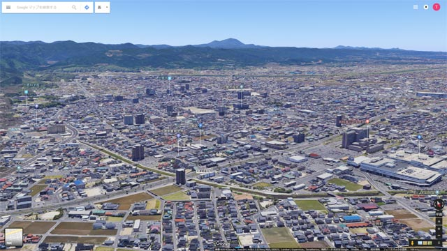 Googleマップ Earthビュー 出雲市街 ゆめタウン出雲