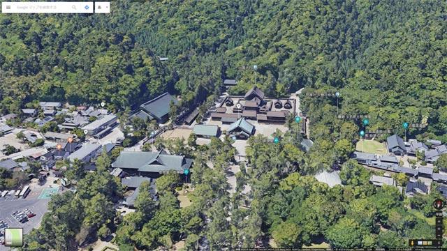 Googleマップ Earthビュー 出雲大社