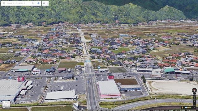 Googleマップ Earthビュー 出雲市 高岡町