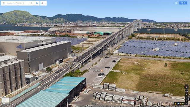 Googleマップ Earthビュー 境港市 江島大橋