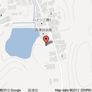 グランフォレスト西津田(仮称)の地図