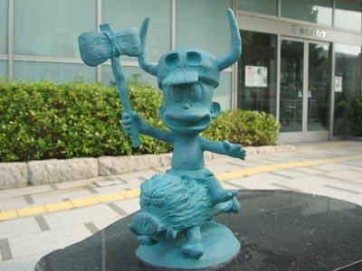 はじめ人間ギャートルズのブロンズ像