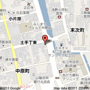 HABITA KENSO 松江事務所(旧そのや本舗跡地)の地図