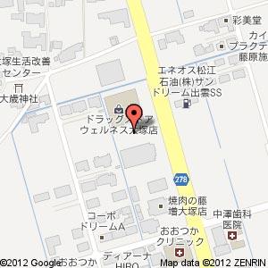 はま寿司 出雲大塚店?の地図