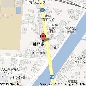 ファミリーロッジ旅籠屋・出雲大社店の地図