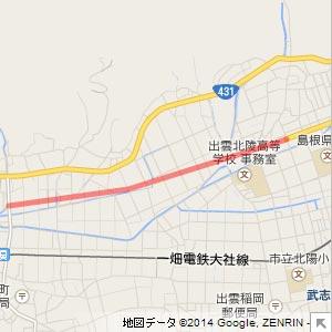国道431号東林木バイパスの地図