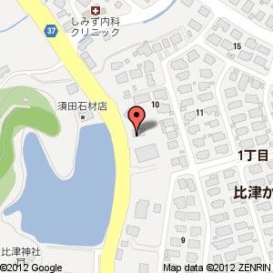 比津交番の地図