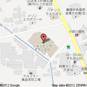 ショッピングタウン エル フーズマーケット ホック大社店の地図