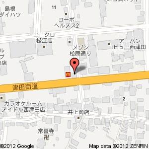 ほっかほっか亭松江津田店の地図